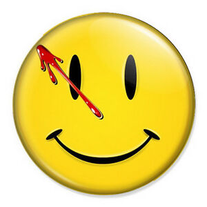 watchmen smiley face 25mm 1 pin badge button dc comics ebay. Black Bedroom Furniture Sets. Home Design Ideas