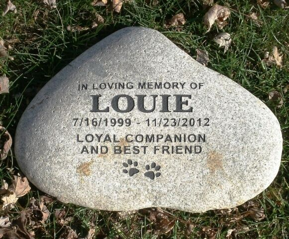 Large Pet Memorial Headstone Grave Marker Custom Engraved | eBay