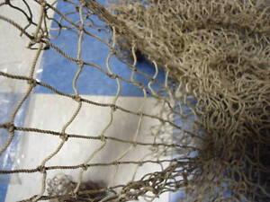Authentic Used Fishing Net 5'x10' Fish Netting Nautical Decor