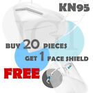 20-Piece KN95 5-Layer Face Mask + Free Face Shield