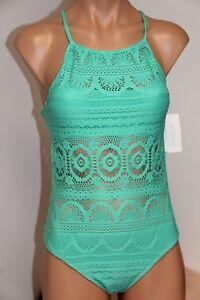 NWT Kenneth Cole Swimsuit Bikini 2pc Set Sz XL Skirt Crochet OCN