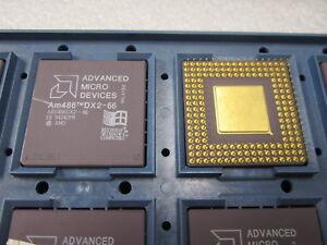 AMD 486DX2 A80486DX2-66 Ceramic Gold CPU Processor 66MHz A80486DX2-66