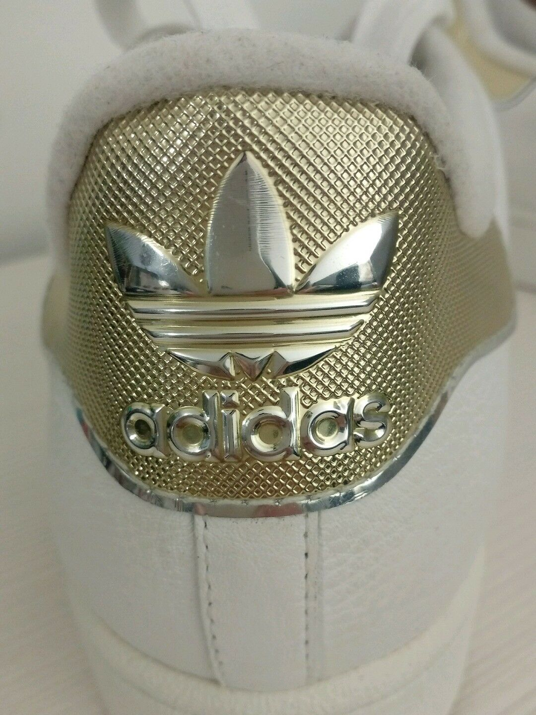 Scarpe da Ginnastica Adidas Superstar 2 White Limited Limited Limited Rare 3D Color Gold-Platinum US 9.5 d24977
