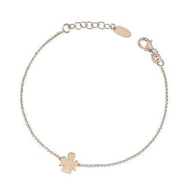 Bracelet Amen Chain Silver Rosato With Angel Ref Brar3 Strengthening Waist And Sinews Precious Metal Without Stones Fine Bracelets