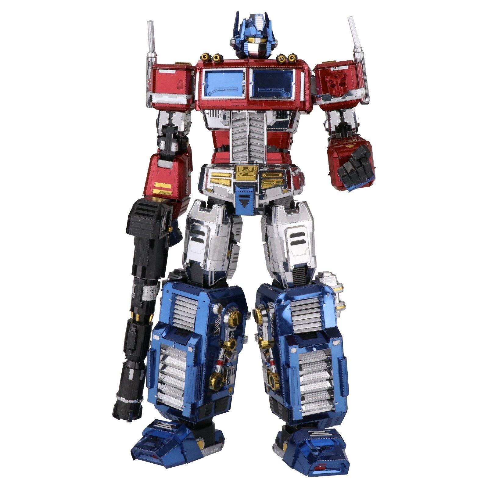 Transformers Optimus Prime MU FULL METAL 3D acciaio taglio laser kit modellololo NUOVO PISTOLE MITRAGLIATRICI