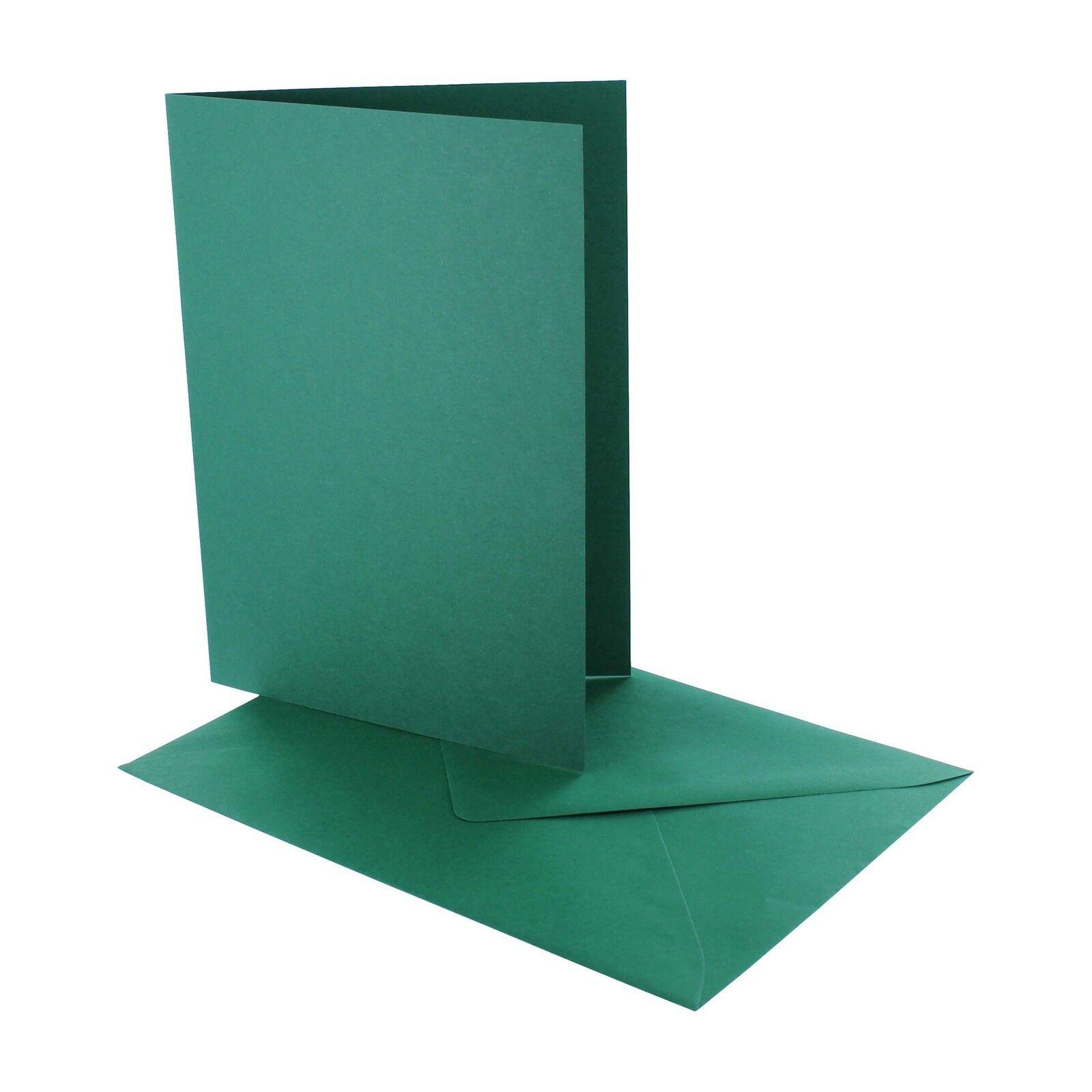 50 Blankokarten Blankokarten Blankokarten Klappkarten DIN B6  225 g m² Hochformat mit KuGrüns in 14 Farben | Online Shop  | Clearance Sale  d45f7b