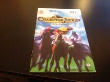 Champion Jockey Instruction Book Manual Wii (no Game)