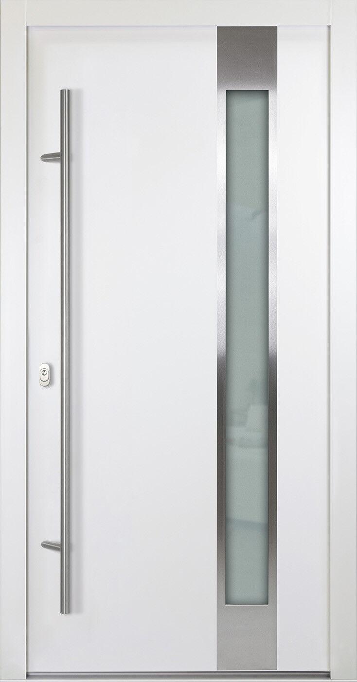 Model AS04 68mm -Sonderpreis   Haustür ALU-Haustür Aluminium  Weiß Hannover