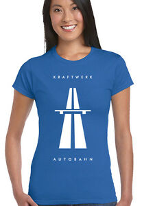 Autobahn-KRAFTWERK-Mujer-Musica-Camiseta-Autobarn