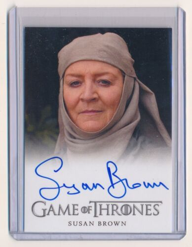 SUSAN BROWN 2013 GAME OF THRONES SEASON TWO AUTOGRAPH AUTO SEPTA MORDANE