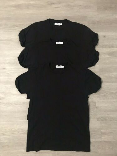 Lot Of 3 Men Topman Black T Shirts With Cuffed Sle