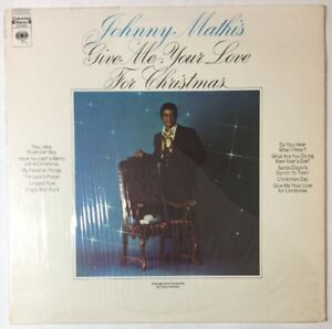 Johnny Mathis - Give Me Your Love For Christmas -VG+ Vinyl LP | eBay