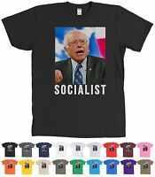 Anti Socialist Bernie Sanders T-shirt Crazy Hair Picture Tee - Many Colors