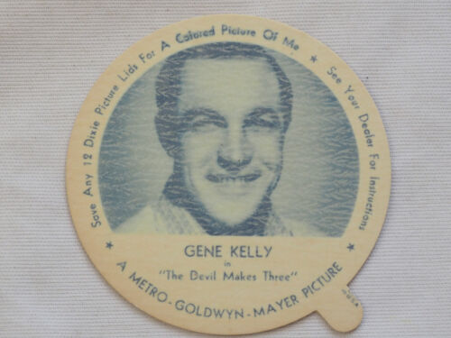 1952 DIXIE CUP NELSON'S ICE CREAM GENE KELLY TV MOVIE STAR NM