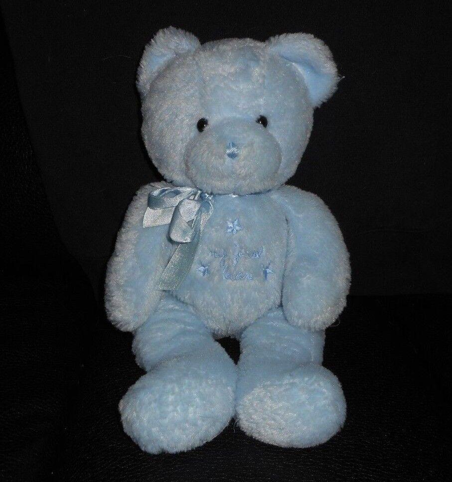12  CARTER'S BABY blueE TEDDY MY FIRST BEAR STUFFED ANIMAL PLUSH TOY STAR