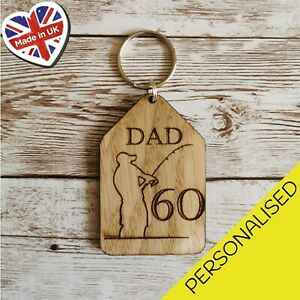 Personalised-DAD-Fishing-Tag-Engraved-Any-Name-Any-Age-Wooden-Keyrings-Keychain