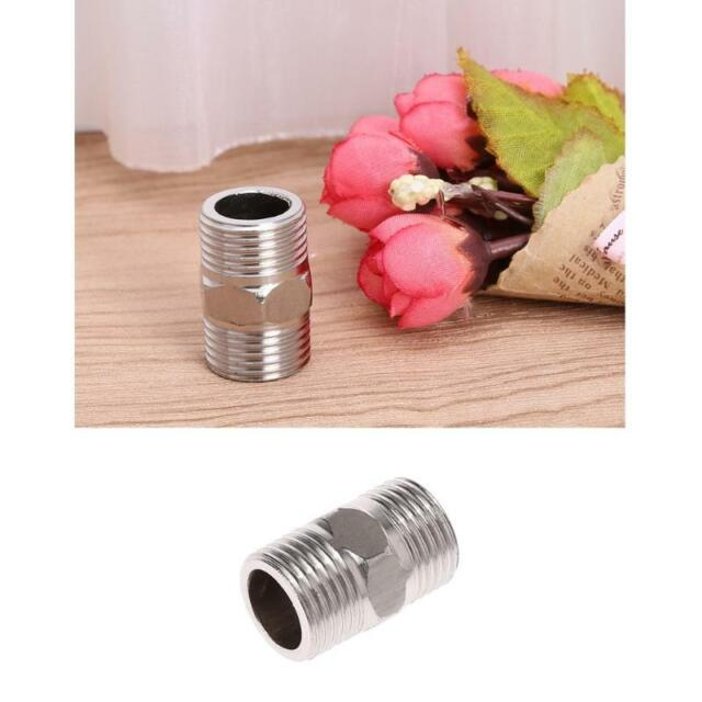 "1/"" Male x 1/"" Male Hex Nipple SS 304 Threaded Pipe Fitting NPT"