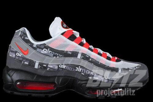 Nike Atmos Air Max 95 We Love Nike Black Bright Crimson AQ0925-002 4-10.5