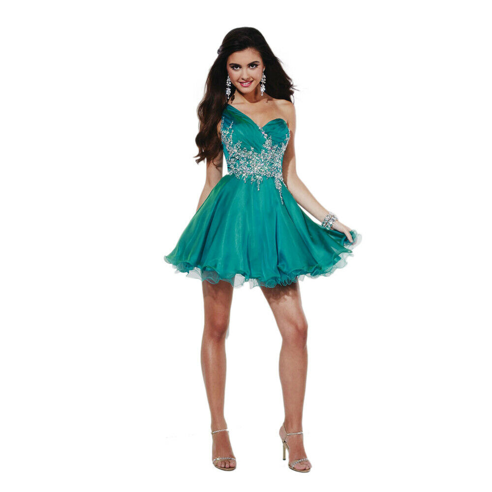 Hannah S Prom Dress Formal Evening Gown Style 27820 Teal Size 10