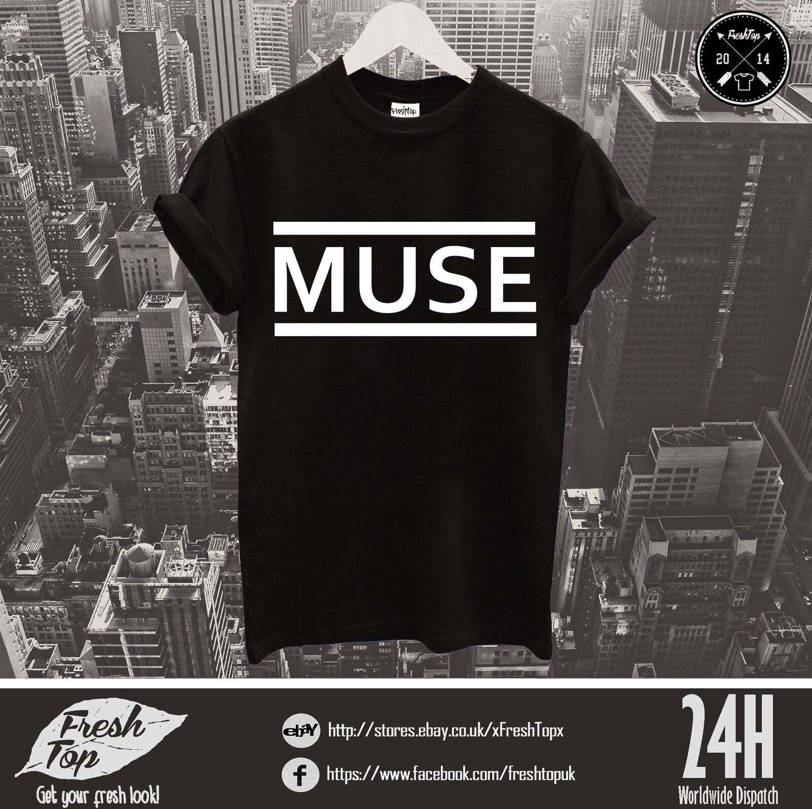 Muse Logo T Shirt Festival Tour Musique Groupe Rock Law The 2nd Law Rock  Origin of Symmetry 333fbd 21ed11ec6d38
