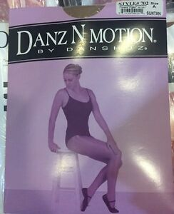 6625aa6a3 Danz N Motion Danshuz ADULT Shimmery Footed Tights SUNTAN  702 Size ...