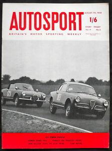 AUTOSPORT MAGAZINE 7 AUG 1959 - THE N.S.U. PRINZ TESTED, GERMAN GRAND PRIX
