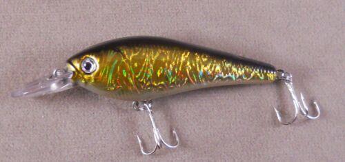 Bass Rattling 3 Inch Crankbait Walleye Fishing Lure DR Medium Diving Shad