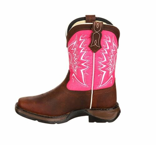 Durango Lil/' Durango Pink and Brown Square Toe Pull On Boot DWBT093//094