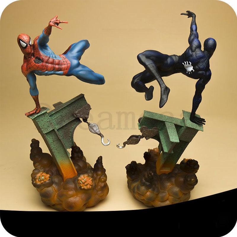 Hombre Araña Color Original Peter estatua Marvel Figura De Acción Nueva base de LED veneno