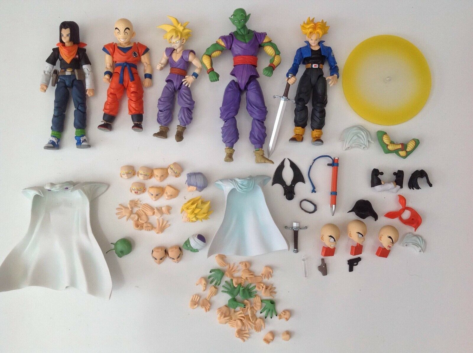 Dragon Ball Z Figuarts Action Figures Android 17, Piccolo, Krillin Klilyn, Gohan