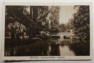 822-Ancienne-Carte-Postale-Milano-Giordini-Pubblici-Laguetto