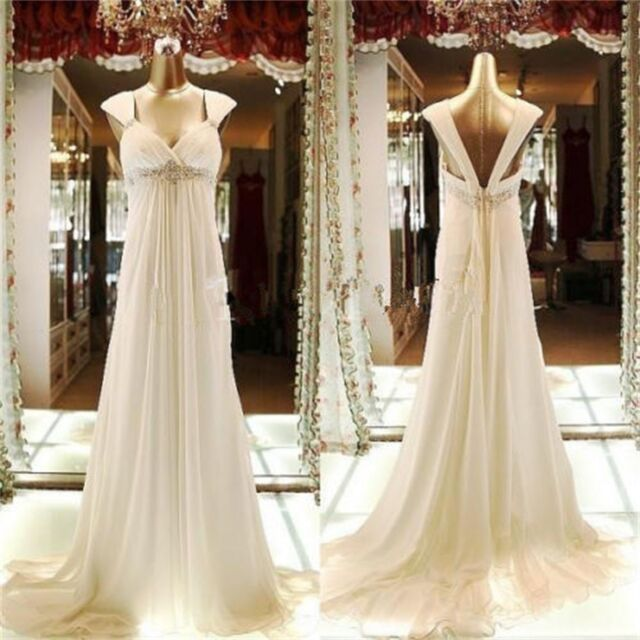 New Formal Long wedding Ball Gown Party Prom Bridesmaid Dress Stock Size 6-18