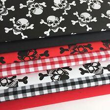 Bundle 7 polycotton fat quarters pirates bundle skulls & crossbones