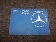 1977 Mercedes Benz 280SE & 450SEL Owner Owner's Operator User Guide Manual