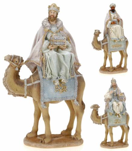 45cm nativité figure 3 rois contemporains de 3 sages avec or encens /& myrrhe
