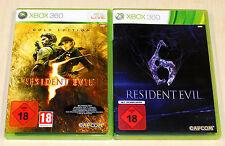 2 360 Xbox colección de juegos-residente Evil 5 6 Gold Edition-Shooter