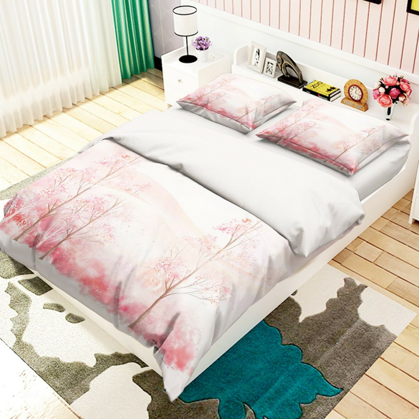 3D Painted Woods 57 Bed Pillowcases Quilt Duvet Cover Set Single Queen AU Carly