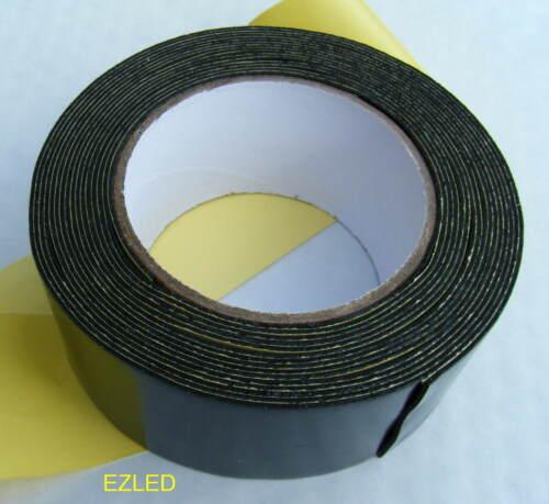 Resistente Negro Cinta de doble cara 50mm X 5M Nuevo