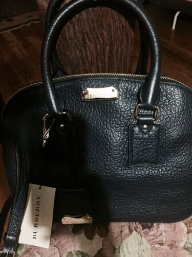 e35b3779289 4 of 5 NWT Burberry 100% Authentic Burberry Bag Blue Small Orchard in Grain  Leather