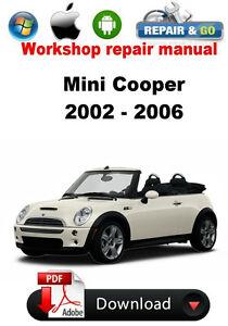 mini cooper 2002 2006 workshop repair manual ebay rh ebay com 2013 Mini Cooper S Manual Does Mini Cooper Manual Omly Have