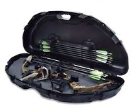 Plano Protector Compact Bow Hard Case Compound Arrow Archery Foam Storage, Black