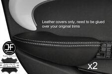 Punto BLANCO 2X Fundas de puerta trasera de reposabrazos cuero adapta BMW Mini Cooper 14-17 F55