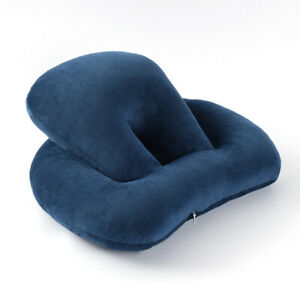 Office-nap-artifact-to-hold-a-pillow-lying-on-the-table-Navy