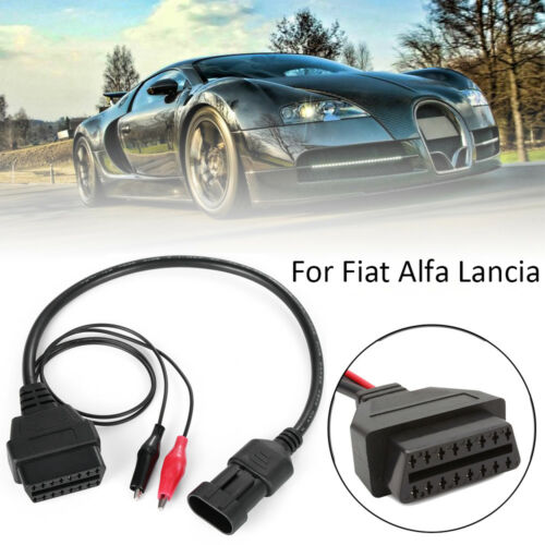 3Pin to 16 Pin OBD2 Adapter Connector Diagnostic Cable for Fiat Alfa Lancia Tool