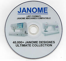40,000+ JANOME JEF Format Embroidery Designs SALE PRICE 85% Off + FREE Software