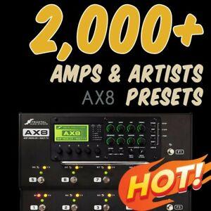 2-000-PRESETS-amp-300-Bonus-Cabs-Fractal-Audio-AX8-Platinum-Collection
