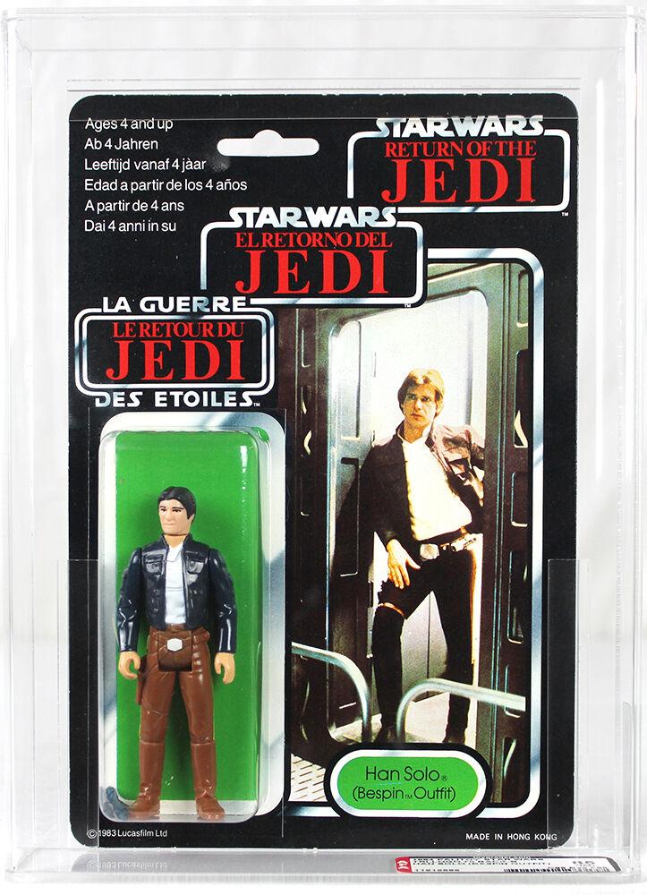 Vintage Star Wars Tri-Logo Han Solo (Bespin) Action Figure AFA 80 NM