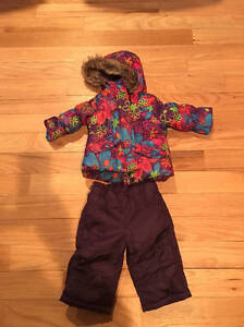 c47cf236d1d5 Rothschild Girls Snowsuit Size 12 Mos 2 Pc Faux Fur Hood Jacket ...