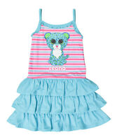 Beanie Boo Blue Pink Girl's Leopard Nightgown Gown Pajamas Leona 4 6 7 8 10