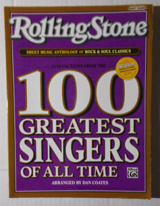 ROLLING STONE MAGAZINE--SONGBOOK-100 GREATEST SINGERS OF ALL